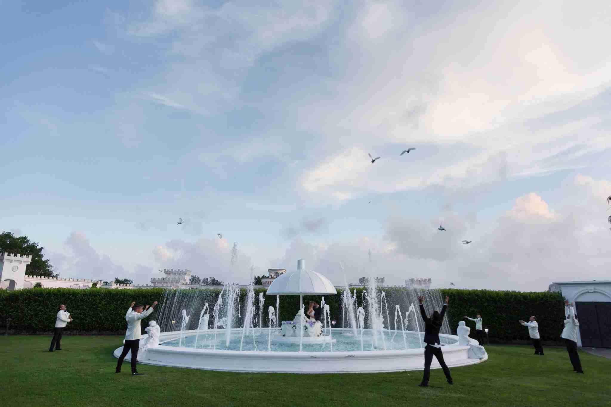 Matrimonio in Villa lago dei cigni: Esterni, giardino e fontana