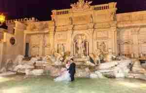 Matrimonio in Villa lago dei cigni: Riproduzione Fontana di Trevi