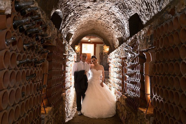 Matrimonio a Villa Galanti: Grotta enoteca