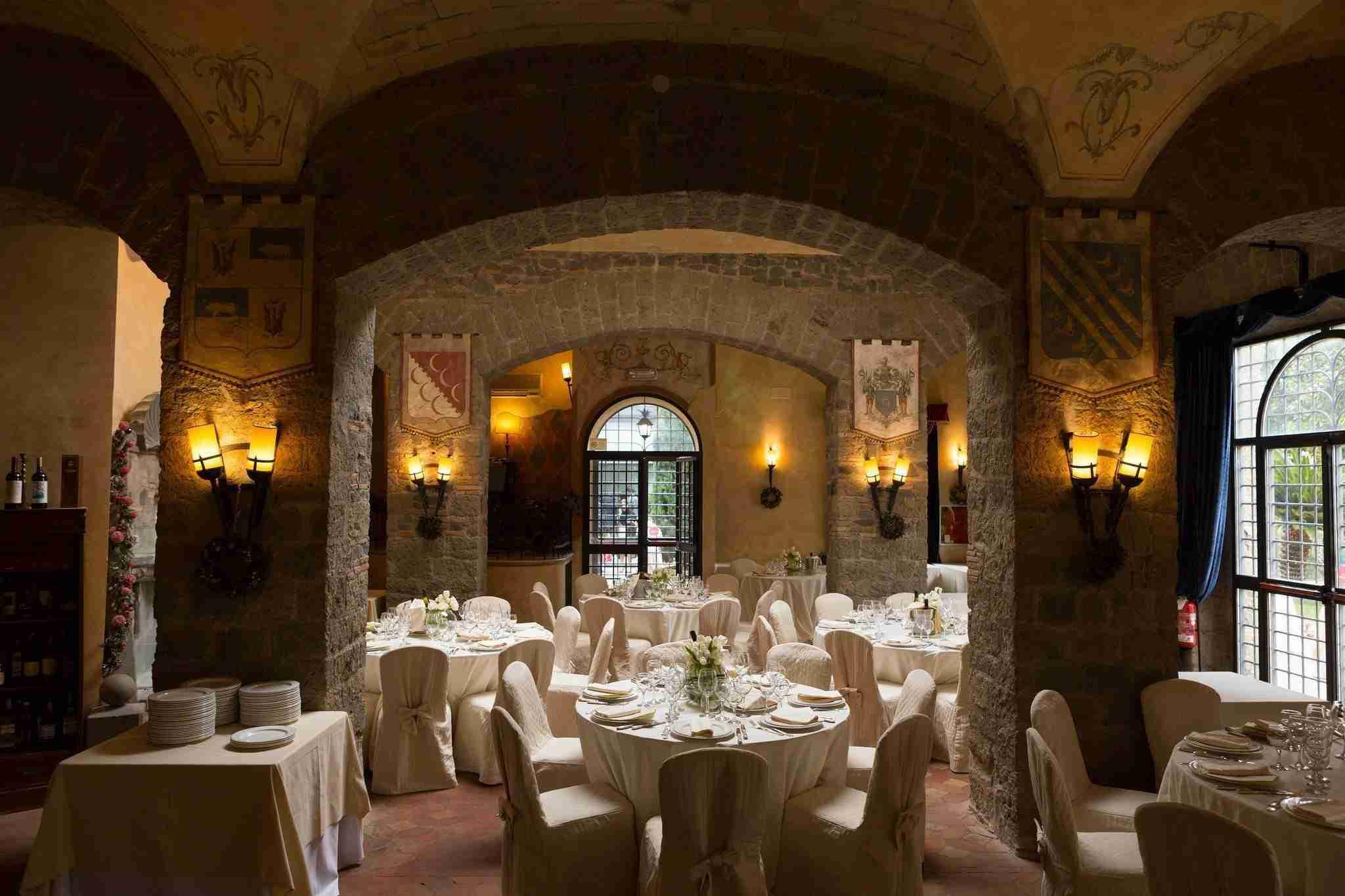 Matrimonio al Castello della Castelluccia: Sala Ricevimento