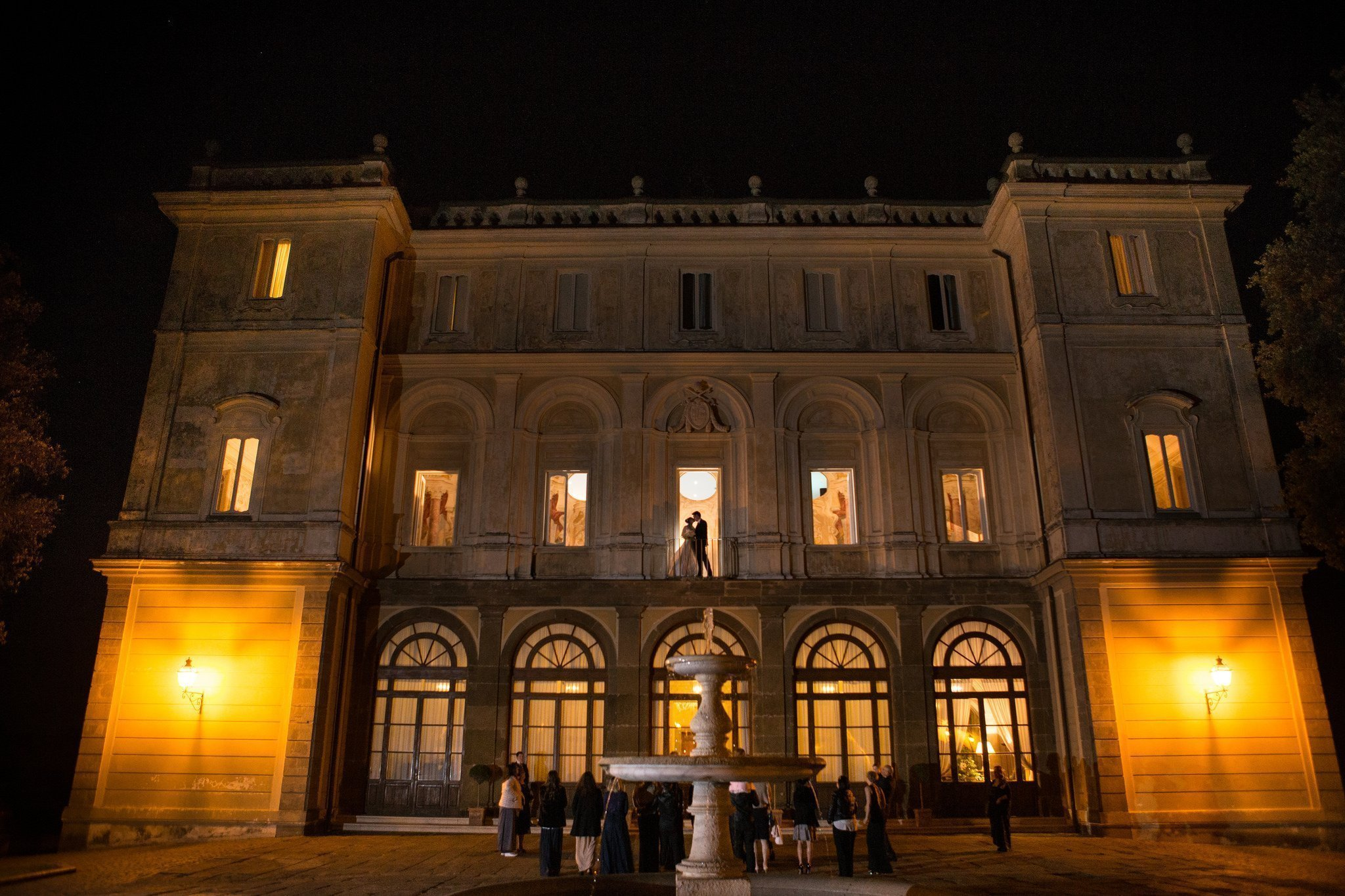 Matrimonio al Park Hotel Villa Grazioli: esterno notturno