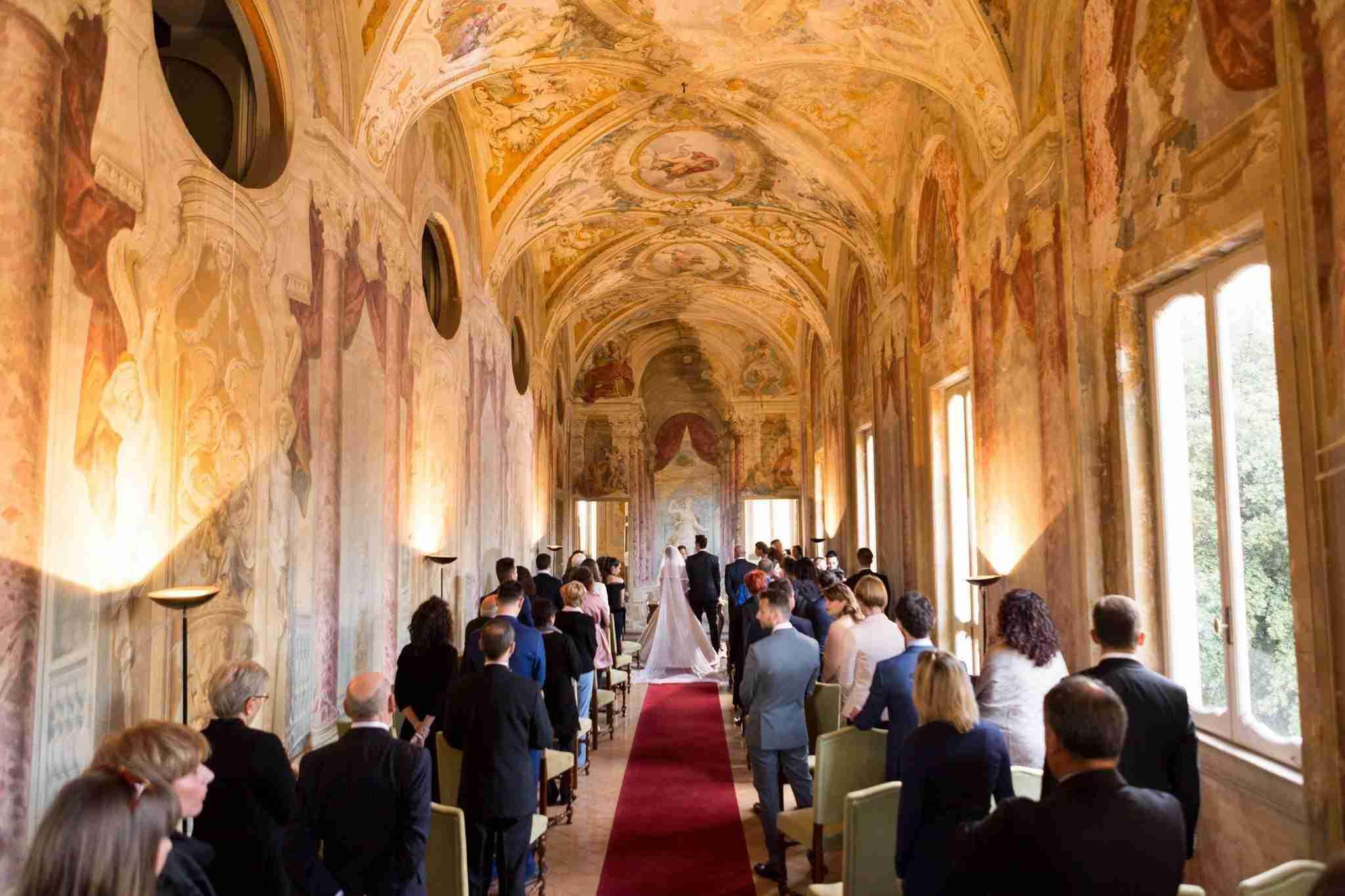 Matrimonio al Park Hotel Villa Grazioli: Sala Interna Cerimonia