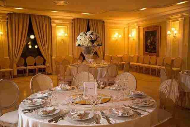 Matrimonio all'hotel villa Ferrata: interno, sala ricevimento