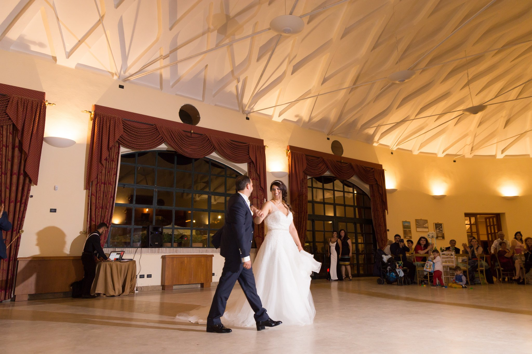Matrimonio al Casale la corte di arenaro: Sala ricevimento
