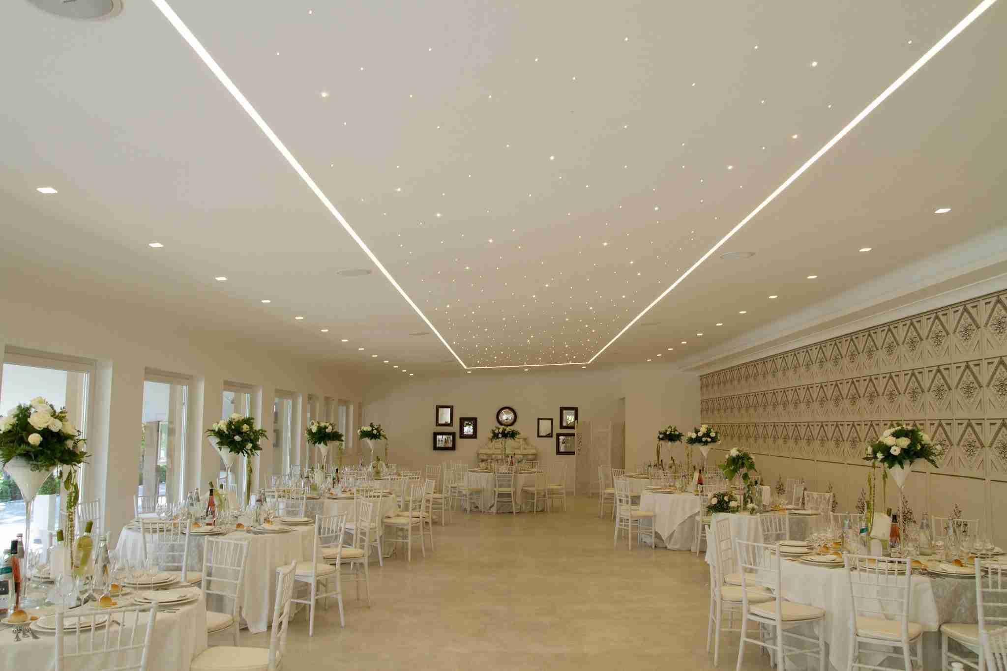 Matrimonio in Villa le Jarden Potager: Sala Interna Ricevimento