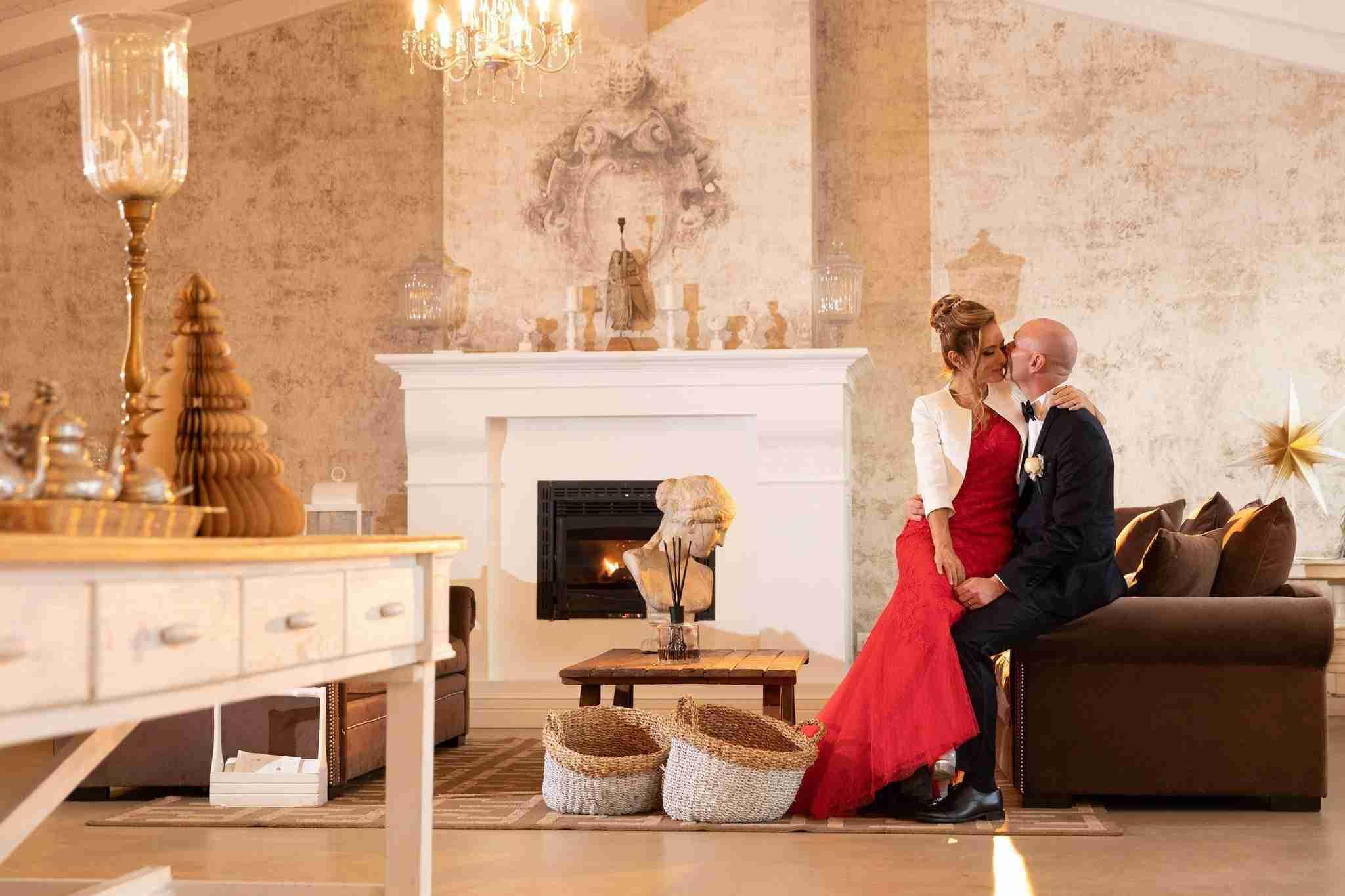 Matrimonio in Villa le Jarden Potager: Interni, camino
