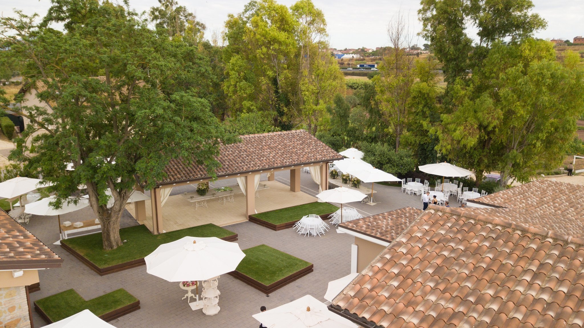 Matrimonio in Villa le Jarden Potager: Esterno