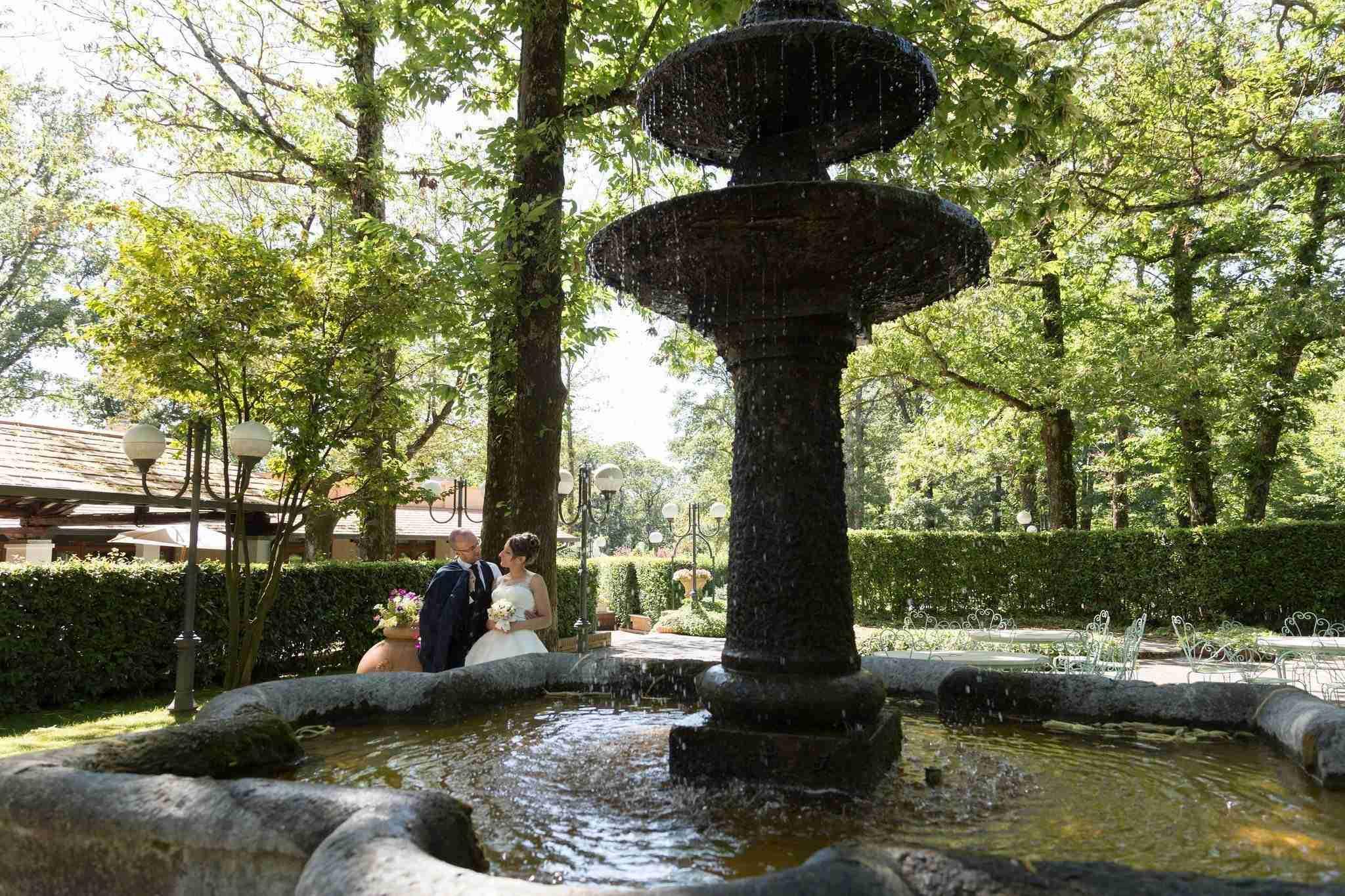 Matrimonio al ristorante la Foresta: fontana