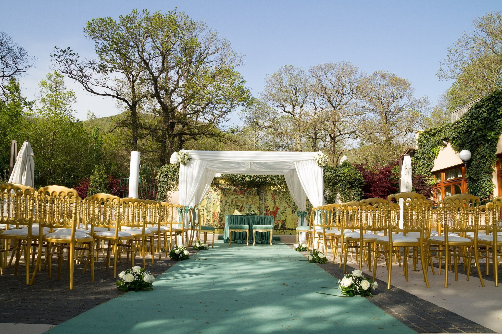 Matrimonio al ristorante la Foresta: cerimonia all'esterno