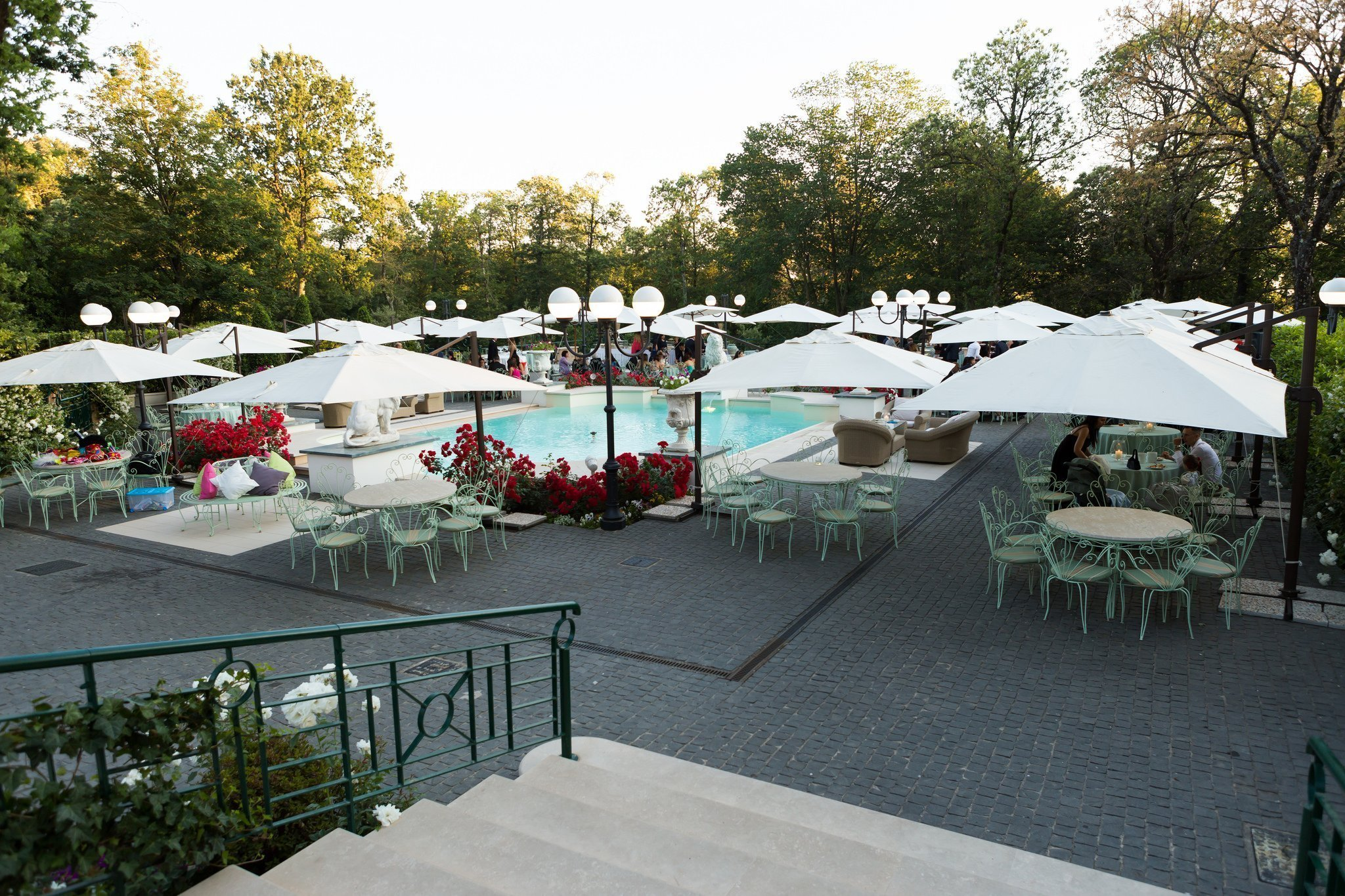 Matrimonio al ristorante la Foresta: Ricevimento esterno