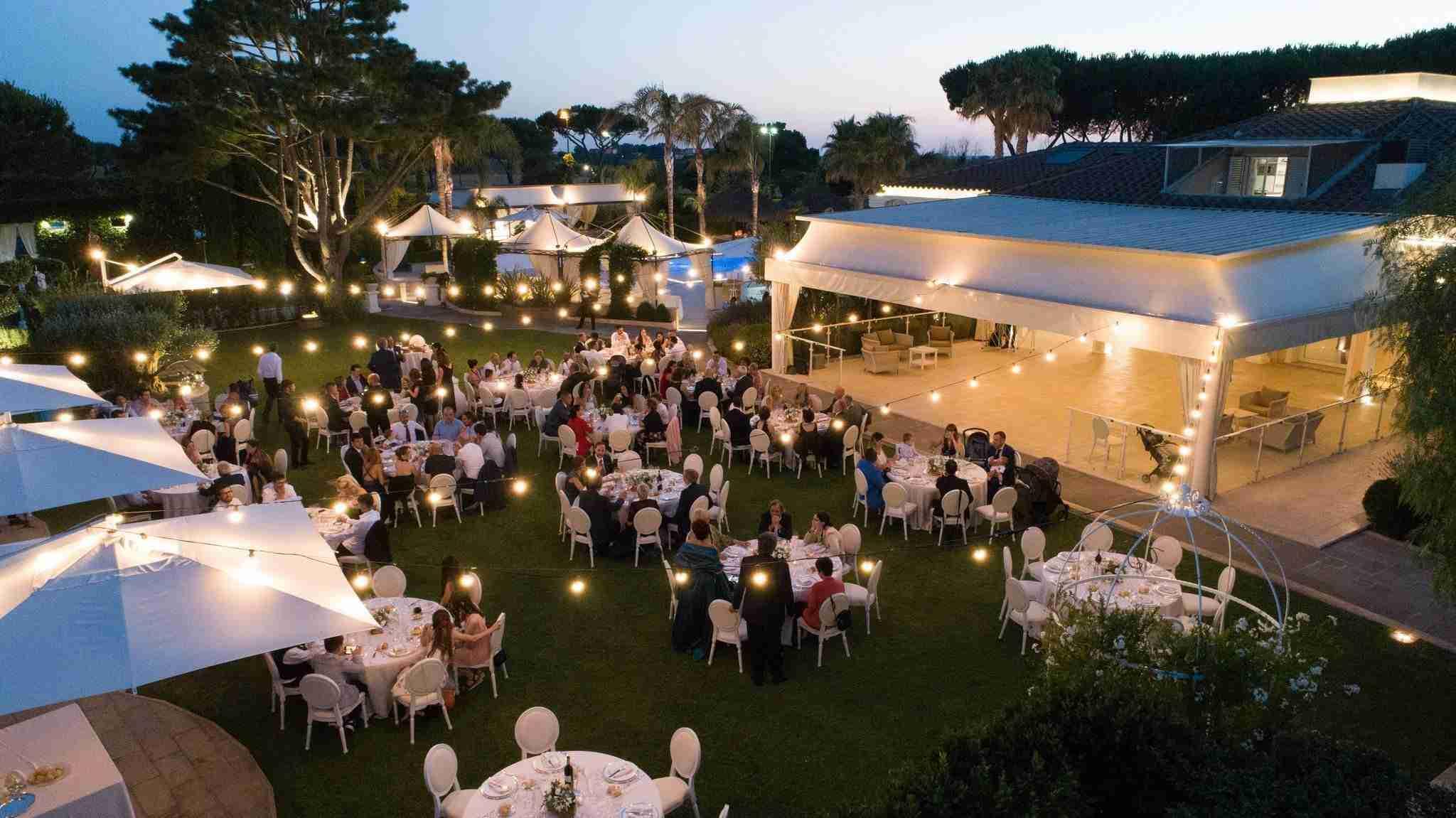 Ricevimento Matrimonio in giardino - Villa Demetra