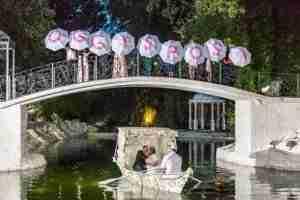 Matrimonio in Villa lago dei cigni: Laghetto, gondola