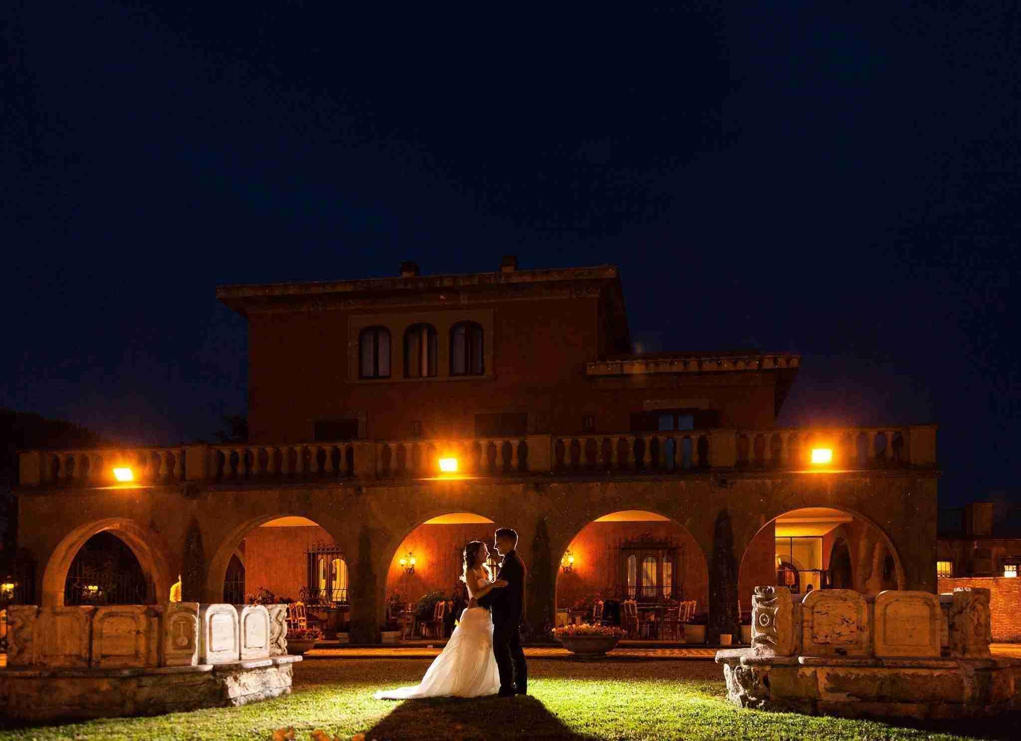 Villa per Matrimoni Monte D'Oro - Giardino in Notturno